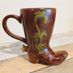 Cowboy Boot Mug   2 Available